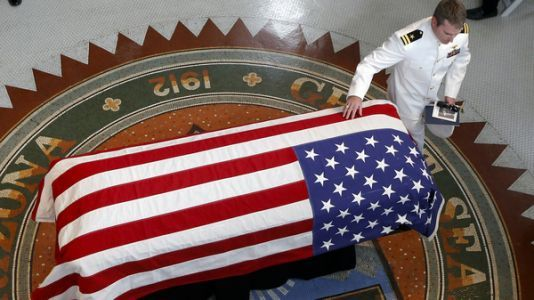Former Colleagues, Friends, Athletes To Serve As McCain's Pallbearers