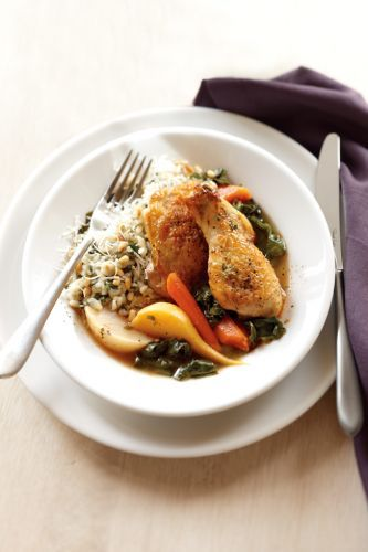 Instant Pot Braised Chicken with Root Vegetables