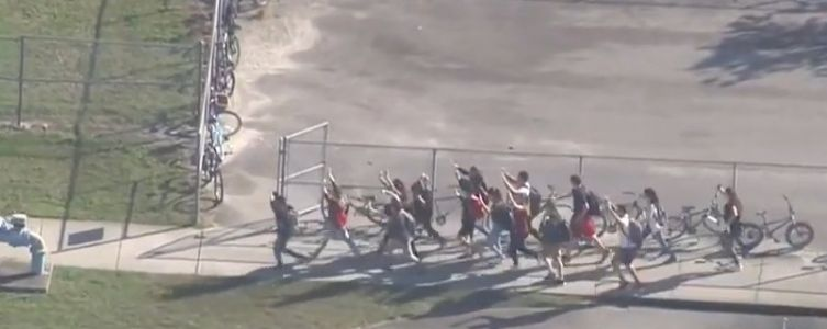 A student shared chilling photos trapped inside Marjory Stoneman Douglas High School during the shooting