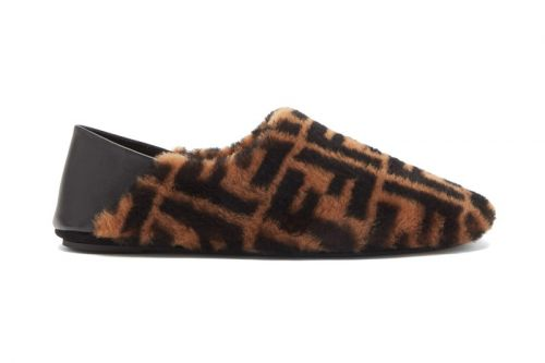 Fendi Dips Retro-Inspired Slippers in Its Classic FF Monogram Imprint