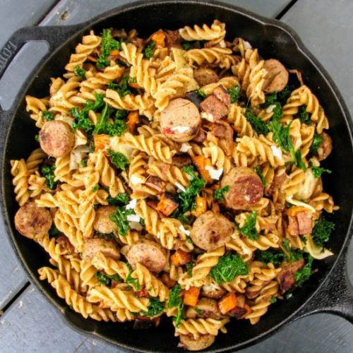 Chicken and sweet potato pasta
