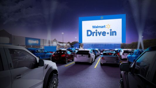 Walmart to turn parking lots into drive-in movie theaters