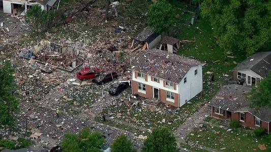 Fatal explosion destroys home in southern Indiana, over a dozen other homes damaged