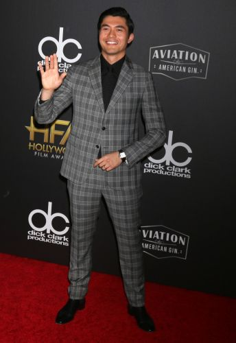 Henry Golding is Dapper in Versace for 2018 Hollywood Film Awards