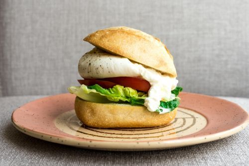 The Best Way to Eat Tomatoes This Summer: BLT Burrata, Lettuce, and Tomato Sandwich