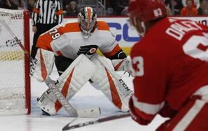 Surging Flyers beat Red Wings 3-1 for 12th win in 14 games