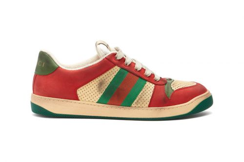 Gucci's Latest Pre-Distressed Sneaker Comes in Its Classic Red & Green