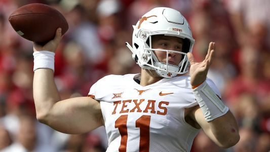 Texas QB Sam Ehlinger 'on schedule' to play Saturday
