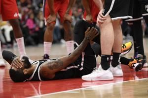 Nets' Irving sidelined again because of right shoulder