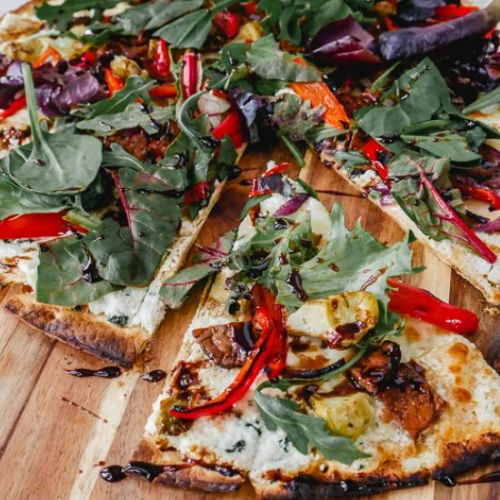 Mediterranean Salad Pizza