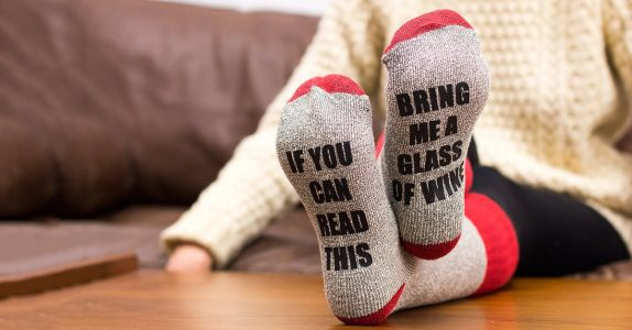 Get 50% off These Hilarious Wine Socks Today Only!