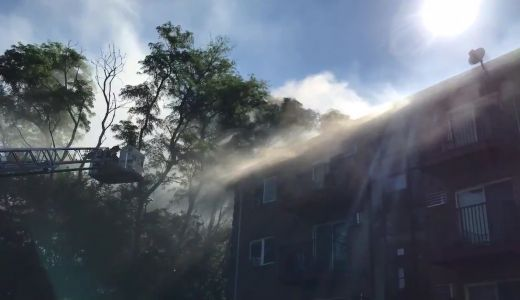 Fire rips through Lawrence apartment hours after residents return