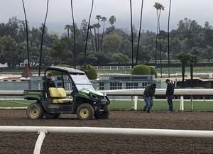 Santa Anita tested as hoof beats yield to sounds of silence