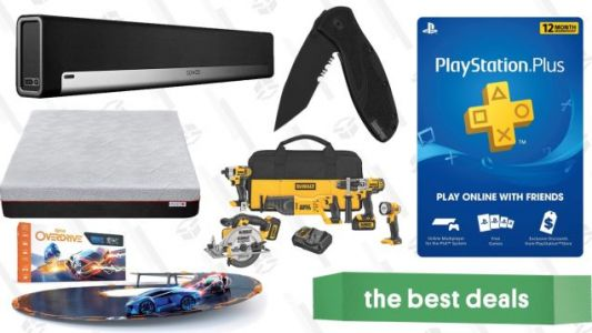 Saturday's Best Deals: PlayStation Plus, Anki Toys, Power Tools, Sonos, and More