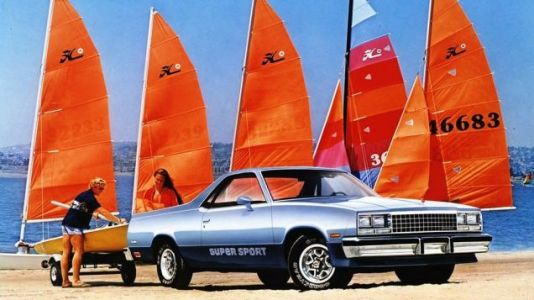 My hobby is to tow my sailboats down to the beach with my Chevrolet El Camino Super Sport