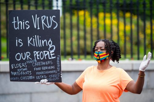 Black and brown people make up two-thirds of US coronavirus deaths below age 65, a new study found
