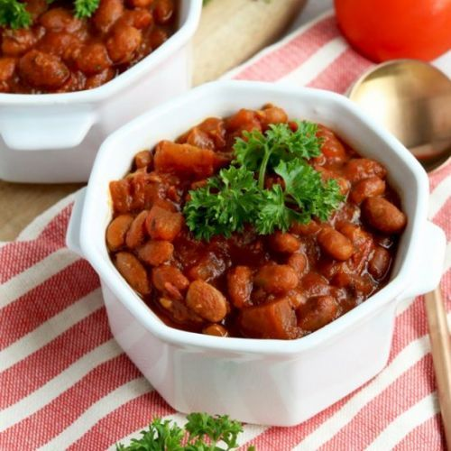 Healthy Slow Cooked Baked Beans