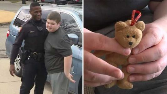 'My teddy bear fell down again': Officer helps boy with autism find lost toy after 911 call