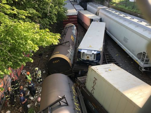 Train derails in Worcester after striking overpass