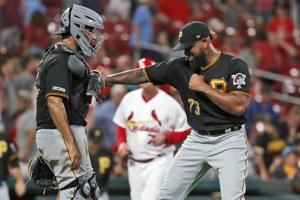 Pirates score twice in the ninth, beat Cardinals 3-1
