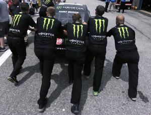 The Latest: Kyle Busch wins 1st stage of NASCAR race in NH