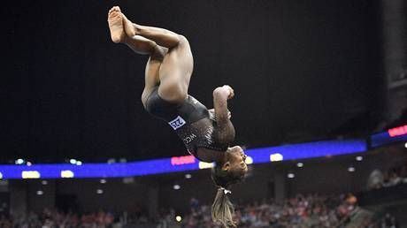 'Is it humanly possible?' US gymnast Simone Biles hits insane triple-double on floor