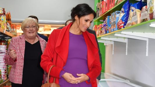 Meghan Markle Wore a Thing: Red Sentaler Wrap Coat Edition