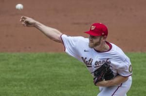 Strasburg hit hard in debut; O's-Nats suspended after rain