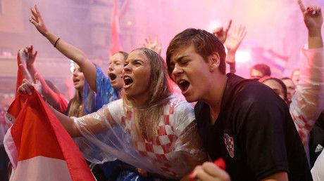 Zagreb erupts into wild celebrations after Croatia reaches World Cup final