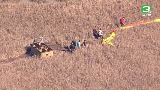 Hot air balloon makes emergency landing near Vallejo