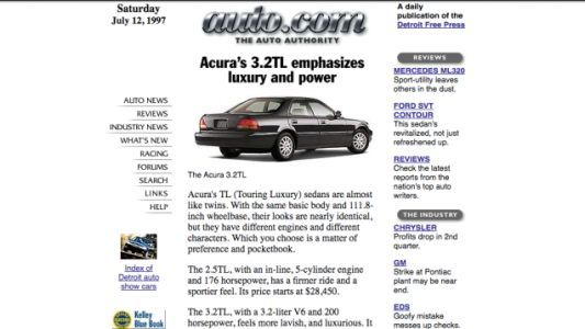 Check Out What Auto.Com Looked Like In 1997
