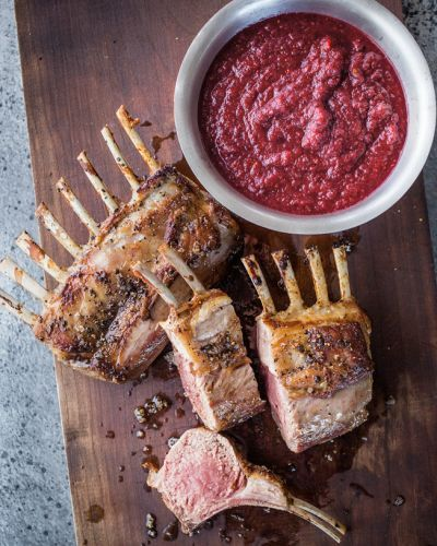 Rack of Lamb with Spicy Cranberry Relish