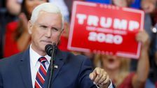Donald Trump 'Very Happy' With Mike Pence, Says He'll Stick With VP In 2020