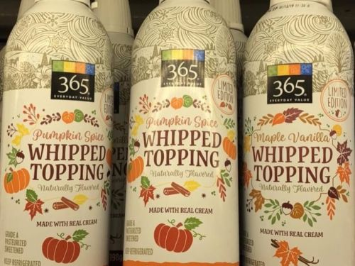 Whole Foods is selling Pumpkin Spice Whipped Cream and you're going to want to put it on everything