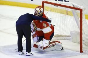 Panthers down another goalie, injured Driedger to miss weeks