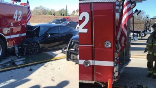 Tesla Driver Who Slammed Into Parked Firetruck On California Freeway Says Car Was On Autopilot