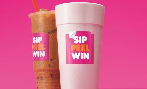 "Peeling Lucky? Dunkin's Nationwide ""Sip. Peel. Win."" On-Cup ""Peel and Reveal"" Promotion is Back with Millions of Prizes up for Grabs"