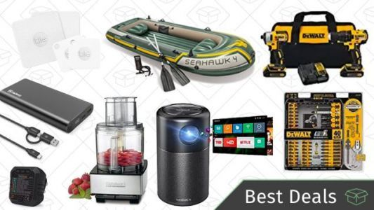 Tuesday's Best Deals: Portable Projector, Dewalt Tool Kit, Fishing Gear, and More