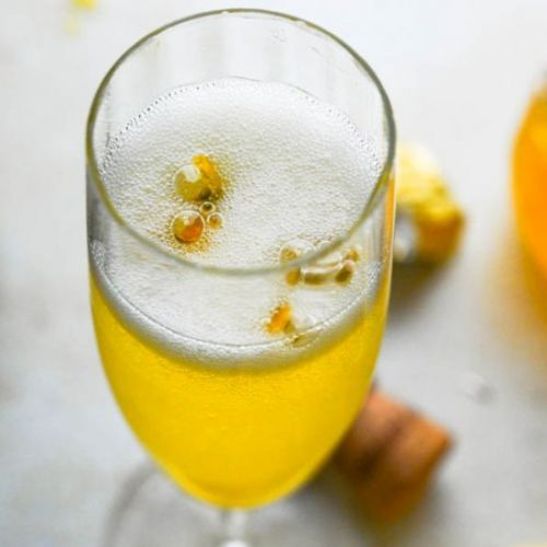 Champagne Passion Fruit Cocktail