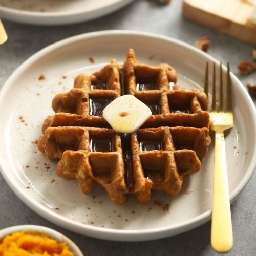 The Best Ever Gluten Free Pumpkin Waffles