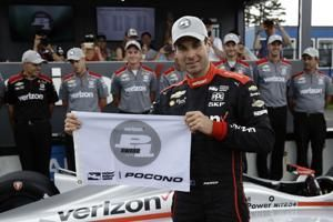 Power starts bid for 3rd straight Pocono win from the pole