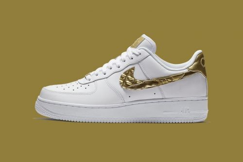 Nike Gifts Cristiano Ronaldo 24k Gold Air Force 1s for His Birthday