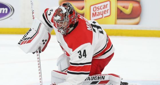 Petr Mrazek may not start Game 3 after Hurricanes fall to Bruins again