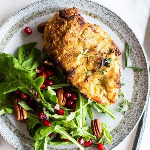 Almond and Herb Crusted Chicken