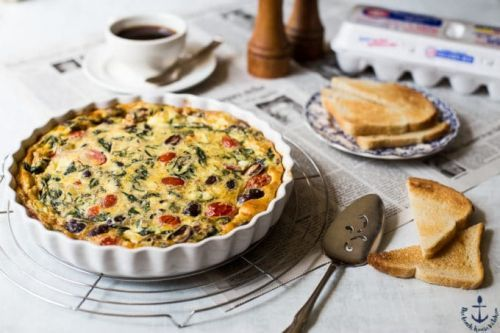 Greek Omelet Egg Bake