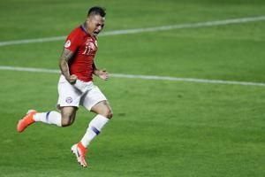 Chile begins Copa America title defense with win over Japan