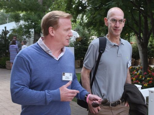 Adam Silver was reportedly asked by an NFL owner if he had any interest in taking Roger Goodell's job and immediately declined the offer