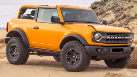 Goodyear Wrangler Tires On The 2021 Ford Bronco Won't Say Wrangler On The Outside