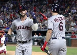 Indians hit 3 straight HRs, Plesac shuts down Rangers, 10-3