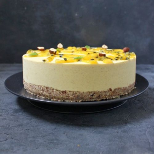 Vegan No Bake Mango Cheesecake